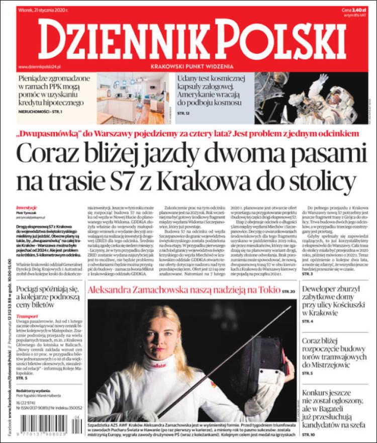 Portada de Dziennik (Polonia)