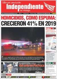 Portada de El Independiente de Hidalgo (Mexico)