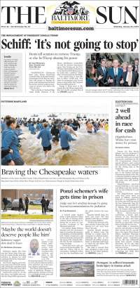 Portada de The Baltimore Sun (USA)