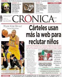 Portada de La Crónica de Hoy (Mexique)