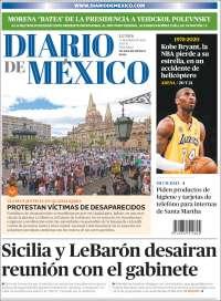 Portada de Diario de México (Mexique)