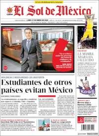 Portada de El Sol de México (Mexique)