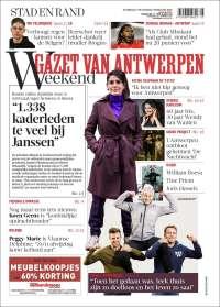 Portada de Gazet van Antwerpen (Bélgica)