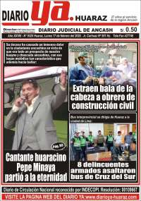 Portada de Diario Ya (Perú)