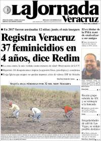 Portada de La Jornada Veracruz (México)