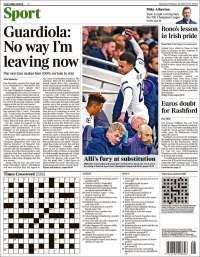 Portada de The Times Sport (Reino Unido)