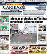 Portada de Diario Caribazo (Venezuela)