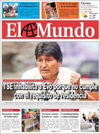 Portada de El Mundo (Bolivia)