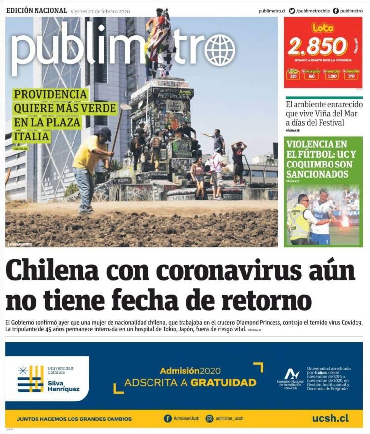 Portada de Publimetro (Chile)