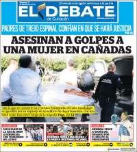 Portada de El Debate de Culiacán (México)