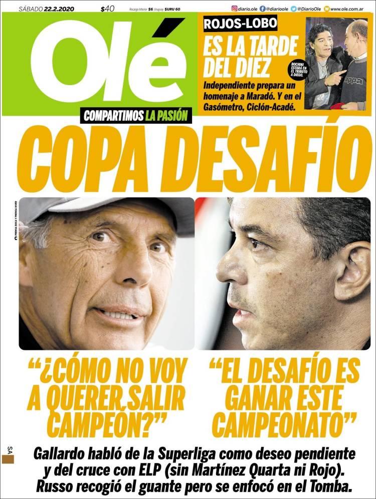 Portada de Olé (Argentina)
