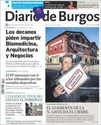 Portada de Diario de Burgos (Spain)