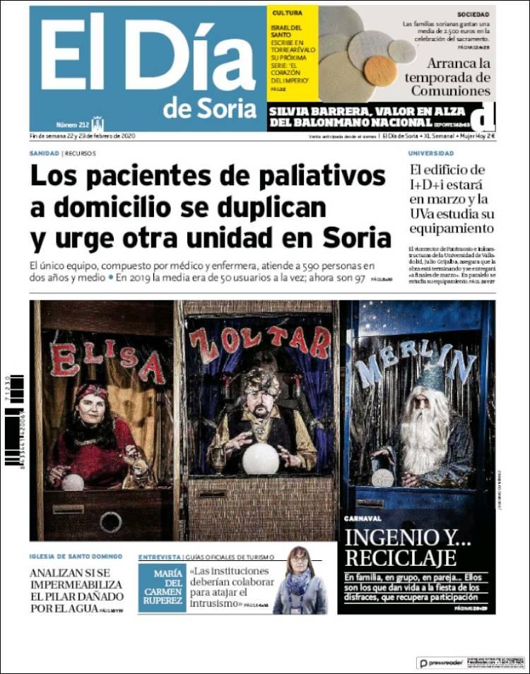 Portada de El Día de Soria (España)
