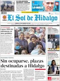 Portada de El Sol de Hidalgo (Mexico)