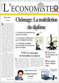 Portada de L'Economiste (Marruecos)