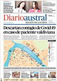 Portada de El Diario Austral de Valdivia (Chile)