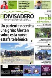 Portada de Diario El Divisadero (Chile)