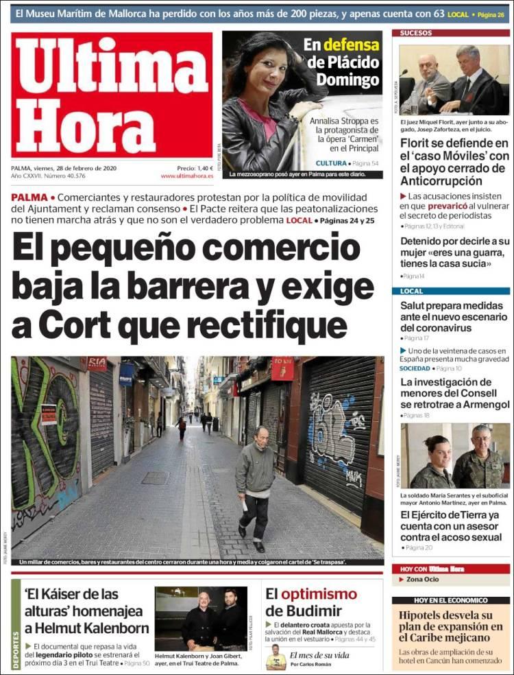 Portada de Última Hora (España)