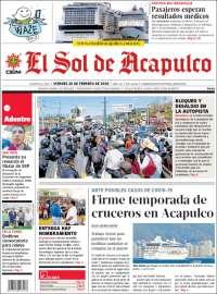 Portada de El Sol de Acapulco (México)