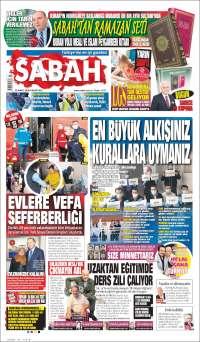 Portada de Sabah (Turquía)