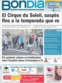 Portada de Diari Bondia (Andorra)