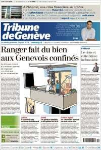 Portada de La Tribune de Genève (Suiza)