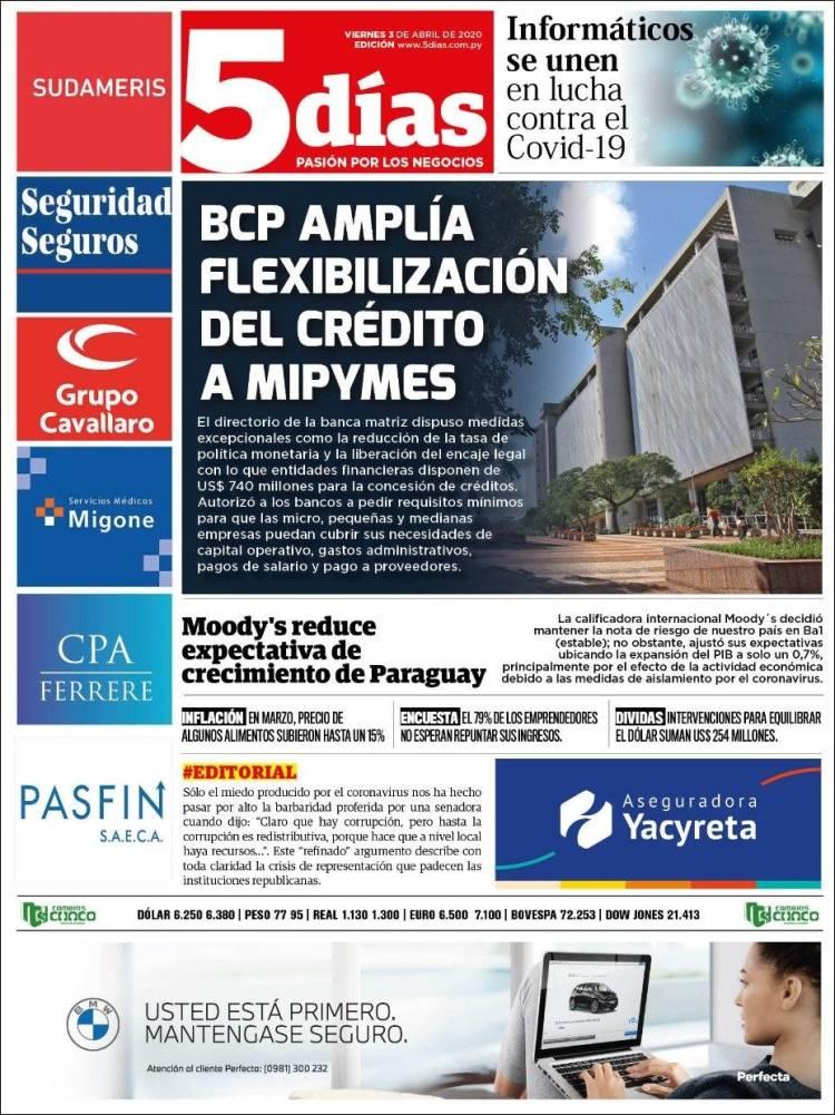 Portada de 5 Días (Paraguay)