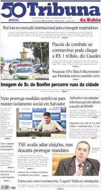 Portada de Tribuna da Bahia (Brasil)
