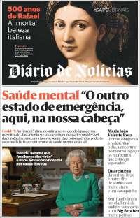 Portada de Diário de Noticias (Portugal)
