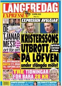 Portada de Expressen (Sweden)