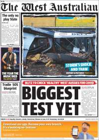 Portada de The West Australian (Australie)