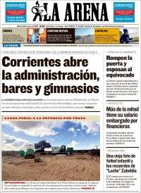 Portada de Diario La Arena (Argentine)