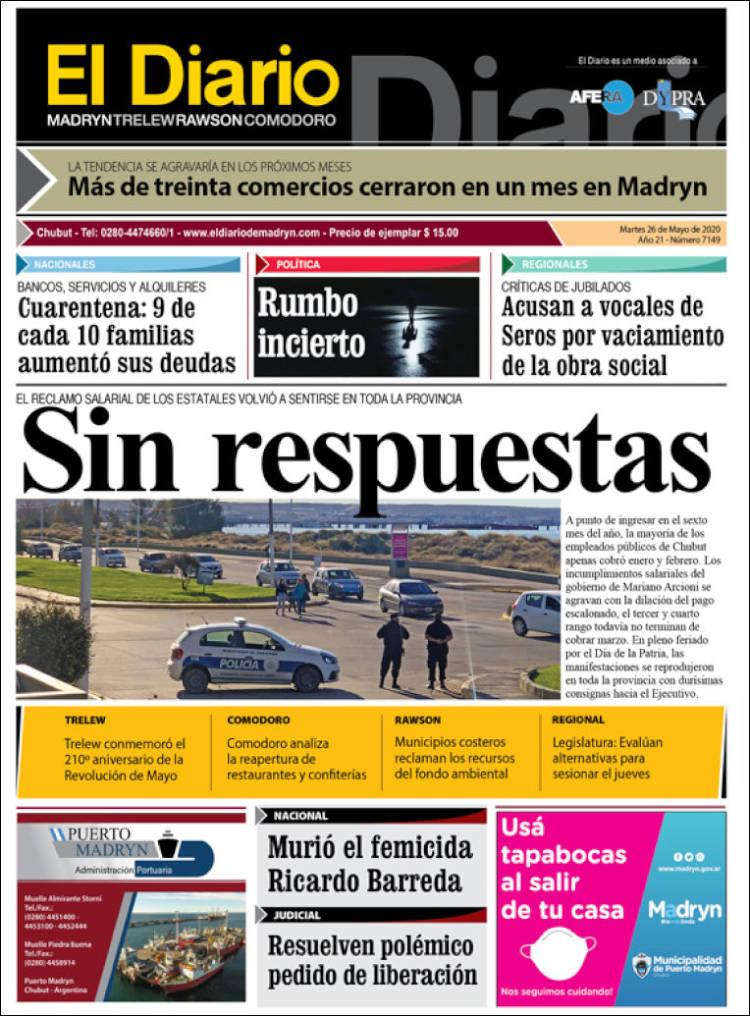 Portada de El Diario de Madryn (Argentine)