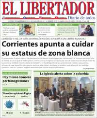 Portada de Diario El Libertador (Argentine)
