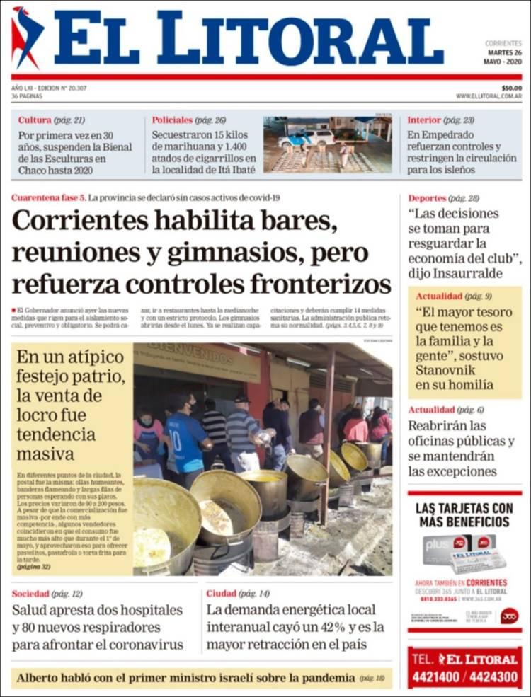 Portada de El Litoral Corrientes (Argentine)