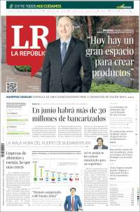 Portada de La Republica (Colombie)