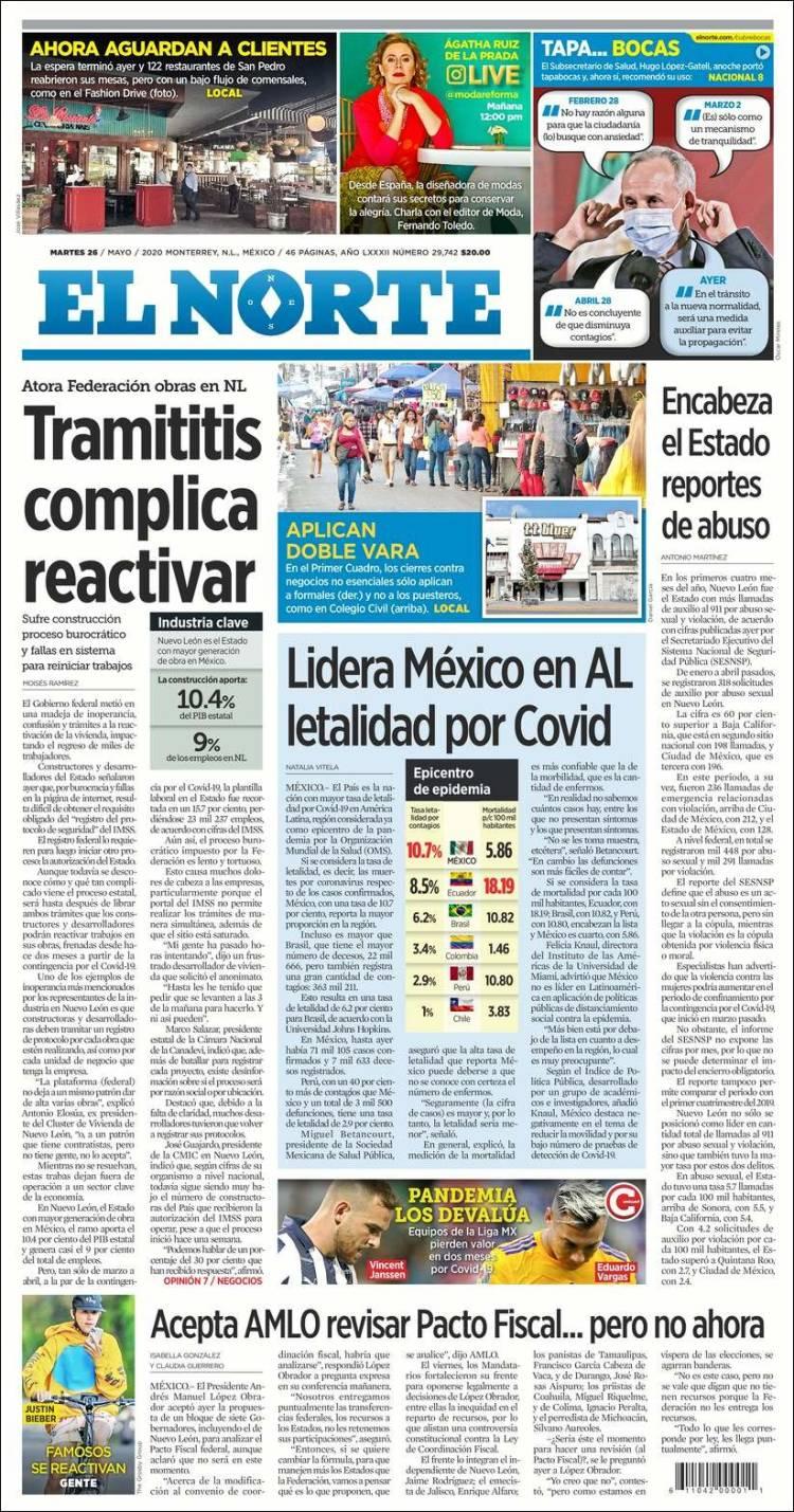 Portada de El Norte (Mexique)