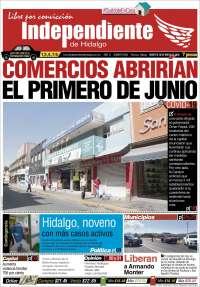 Portada de El Independiente de Hidalgo (Mexique)