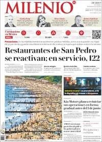 Portada de Milenio de Monterrey (Mexique)