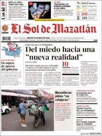 Portada de El Sol de Mazatlán (Mexique)