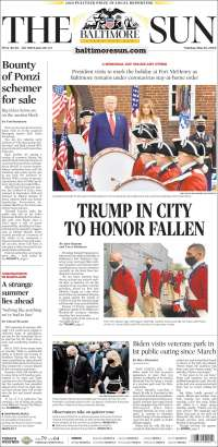 Portada de The Baltimore Sun (États-Unis)