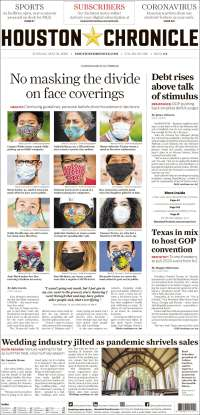 Portada de Houston Chronicle (États-Unis)
