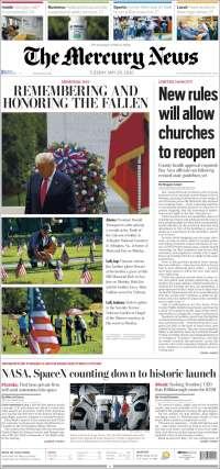 Portada de San Jose Mercury News (États-Unis)