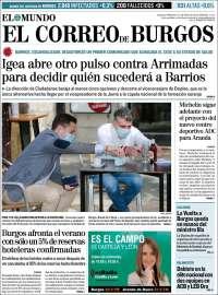 Portada de El Correo de Burgos (España)