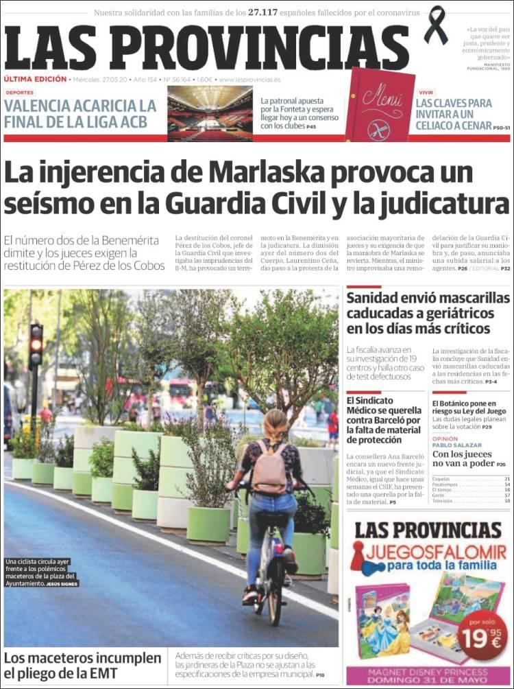 Portada de Las Provincias (España)