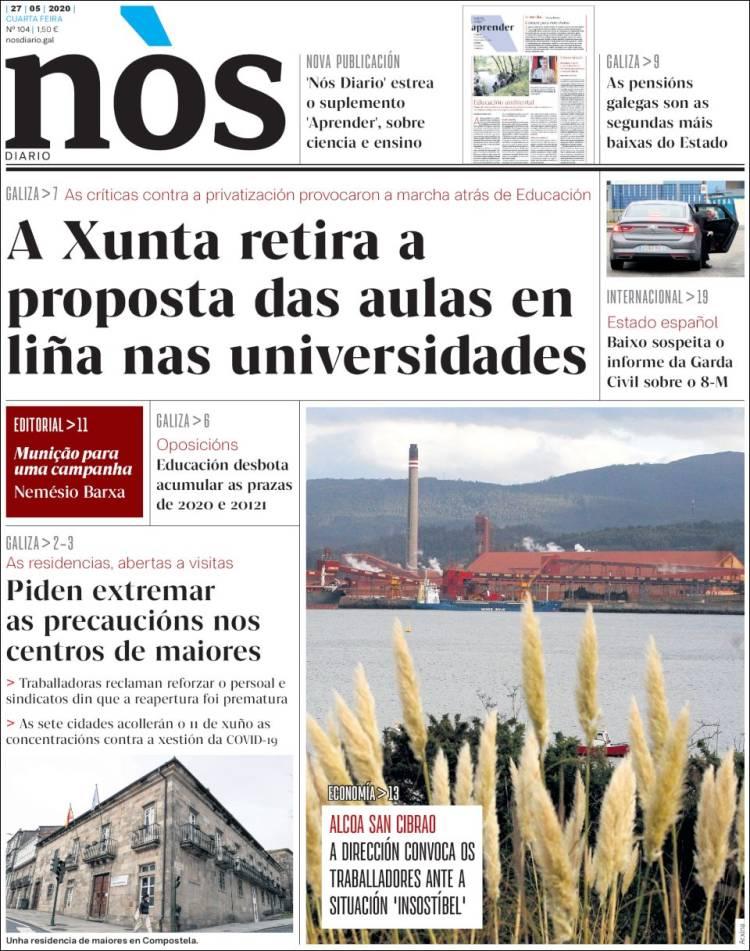 Portada de Nòs Diario (España)