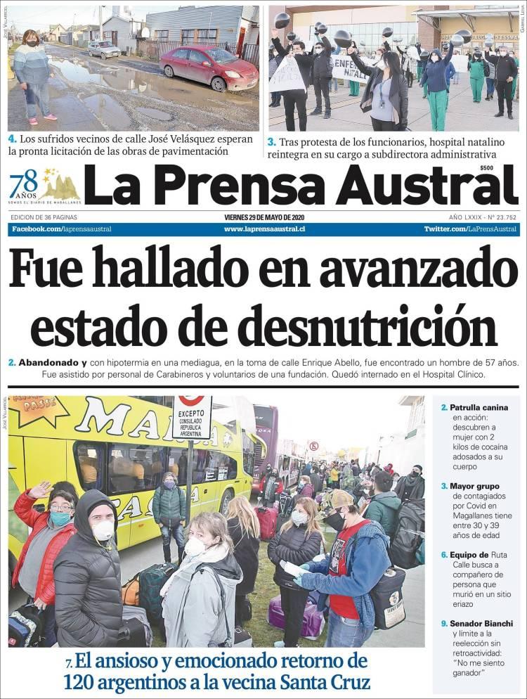 Portada de El Magallanes (Chile)