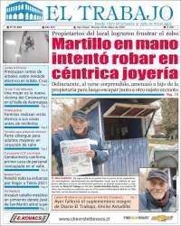 Portada de El Trabajo (Chile)