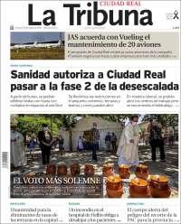 Portada de La Tribuna de Ciudad Real (España)
