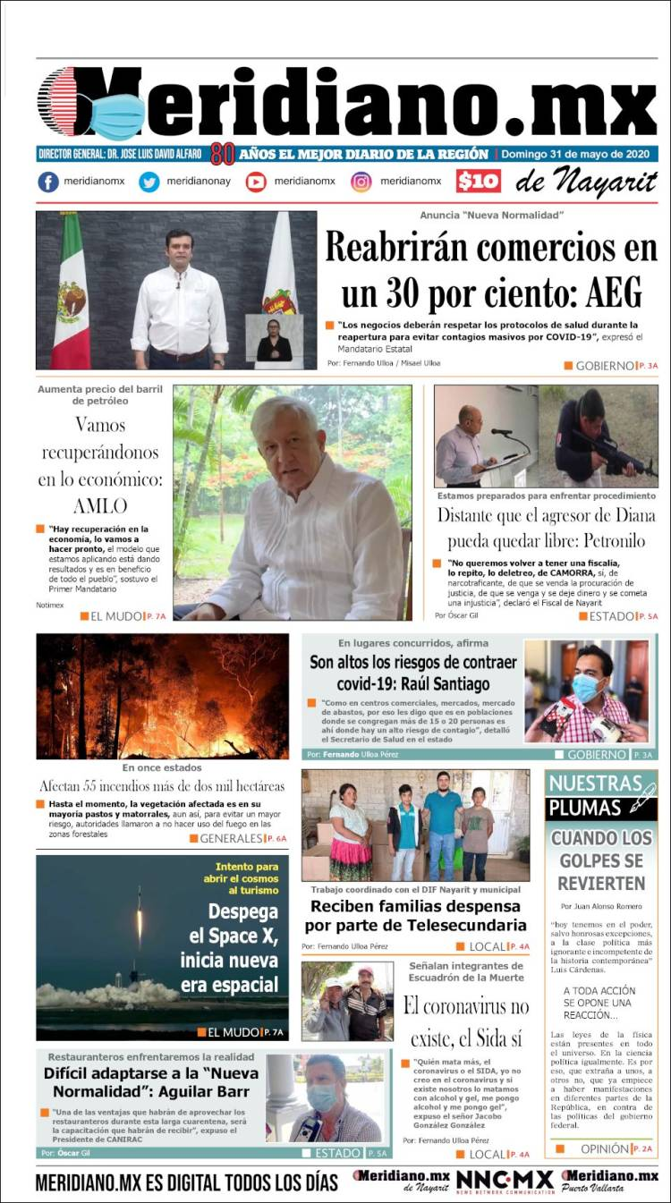 Portada de Meridiano (México)